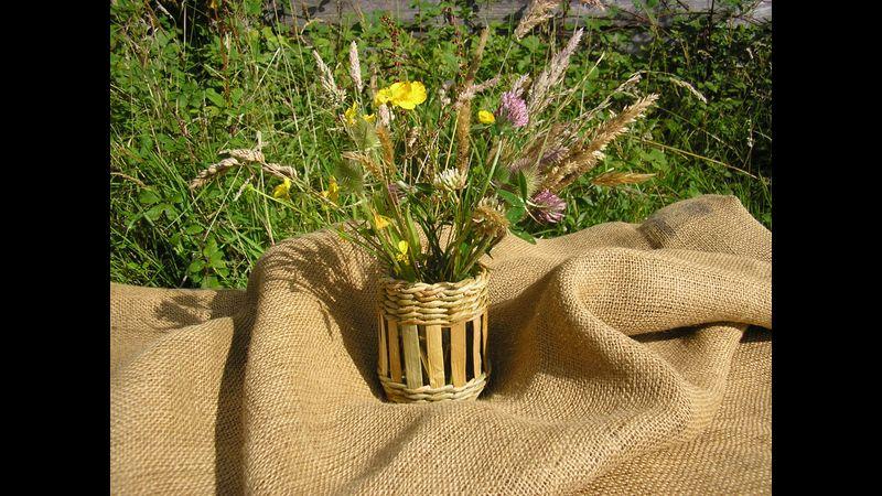 Rush Flower Vase