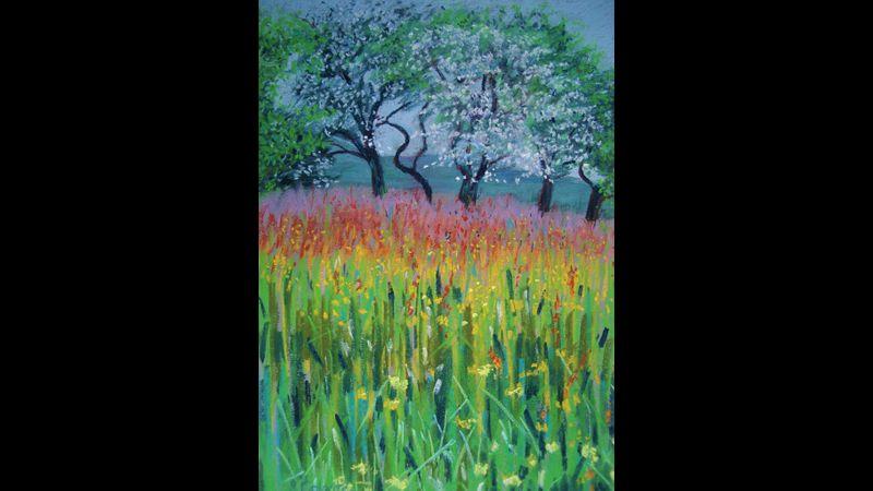 Pastel meadow