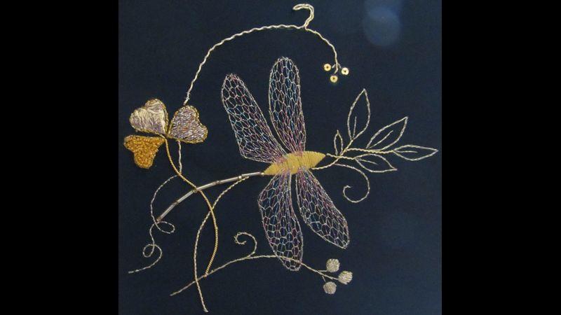 Tara dragonfly goldwork project