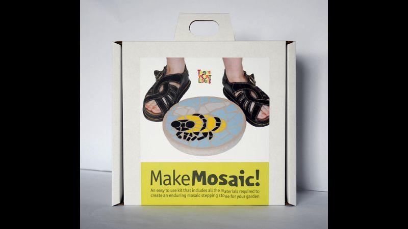 Bee Mosaic Stepping Stone Kit