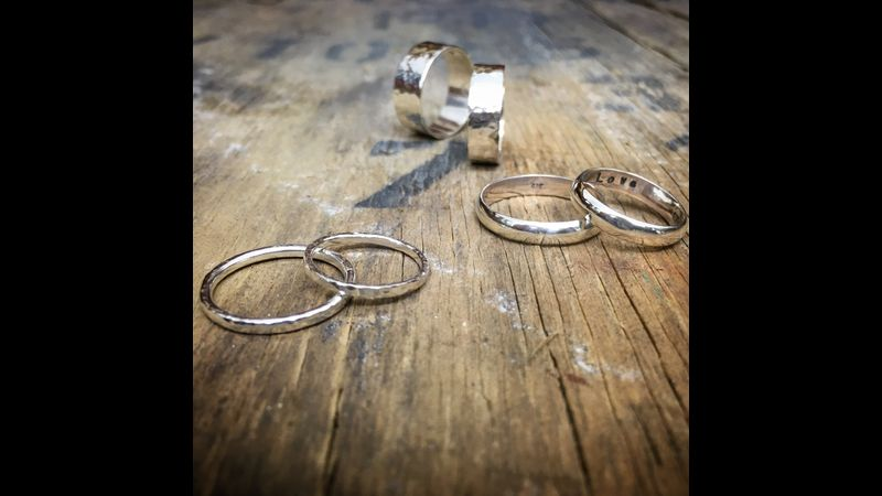 Examples of silver wedding rings