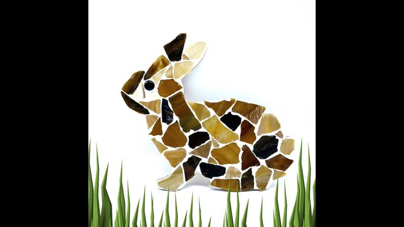 Brown and Caramel Bunny Rabbit Mosaic Kit