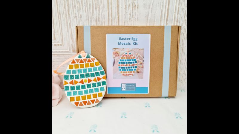 China Petals Easter Egg Mosaic Kit