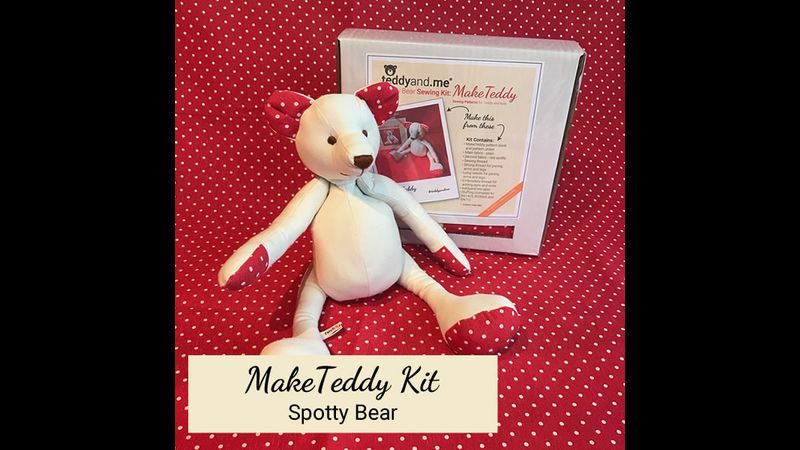 MakeTeddy Sewing Kit - Spotty Bear