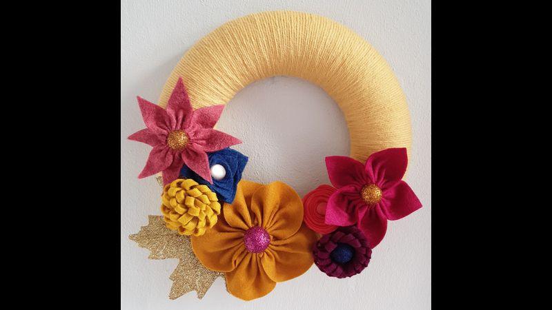 Festive Felt Floral Wreath