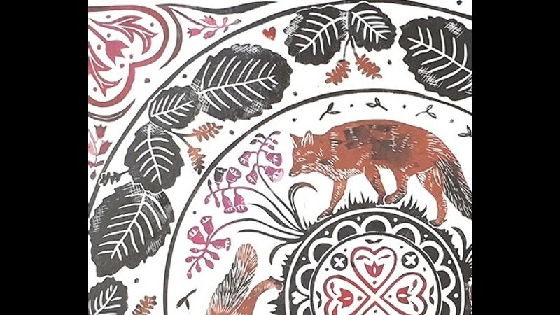 Intro to Lino Cut Printing - multicoloured with Sue Rowland, a Quirky Workshops at Greystoke Craft Garden Barns