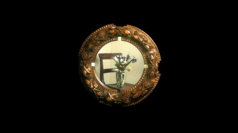 Tulip mirror frame - my absolute favourite - mahogany.