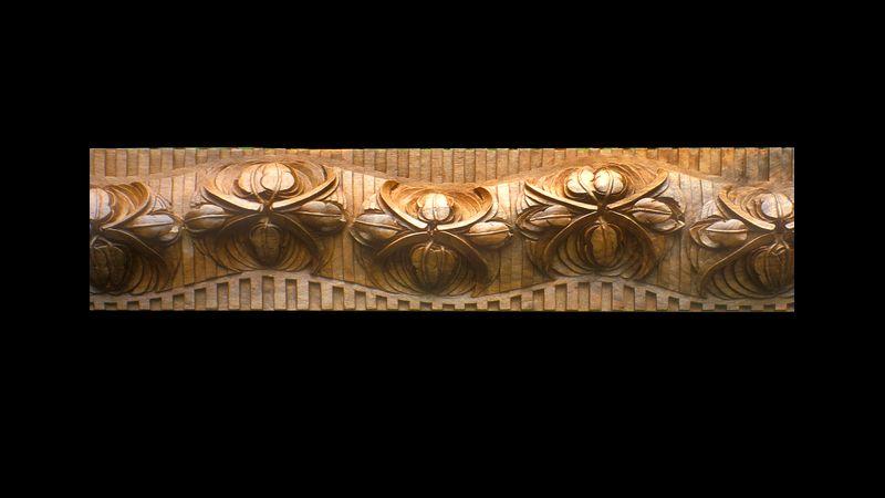 Tulip panel -  walnut - commission