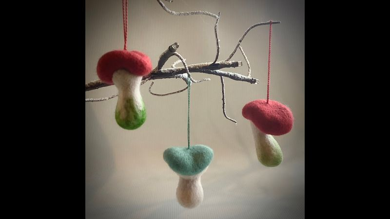 Make your own magical toadstool, suitable for autumn or Christmas decor.