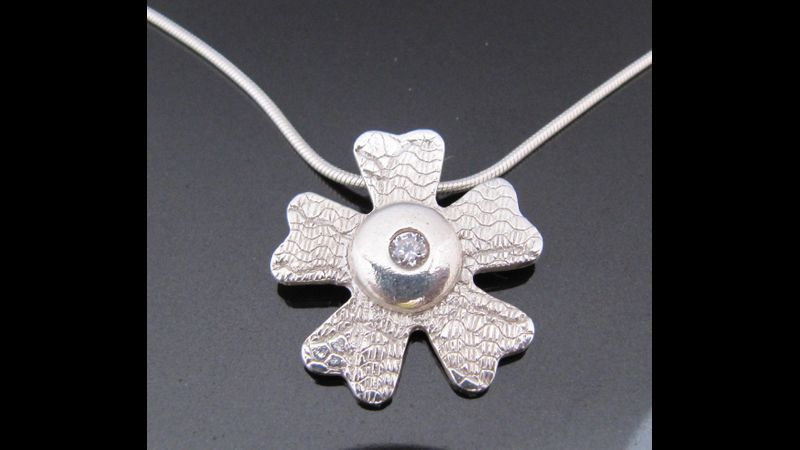 Silver Clay Pendant by Tracey Spurgin of Craftworx