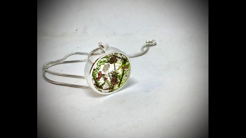 Woodlands wearable art necklace
