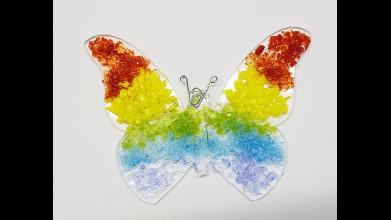 Butterfly pair kit in rainbow design 8cm