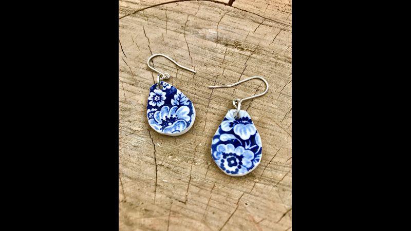 Vintage china earrings