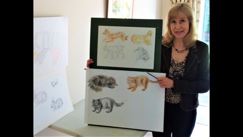 Raya Brown is teaching Pastels for complete beginners course