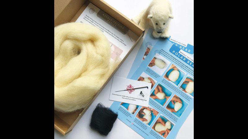 Bergin & Bath Needle Felted Polar Bear Kit