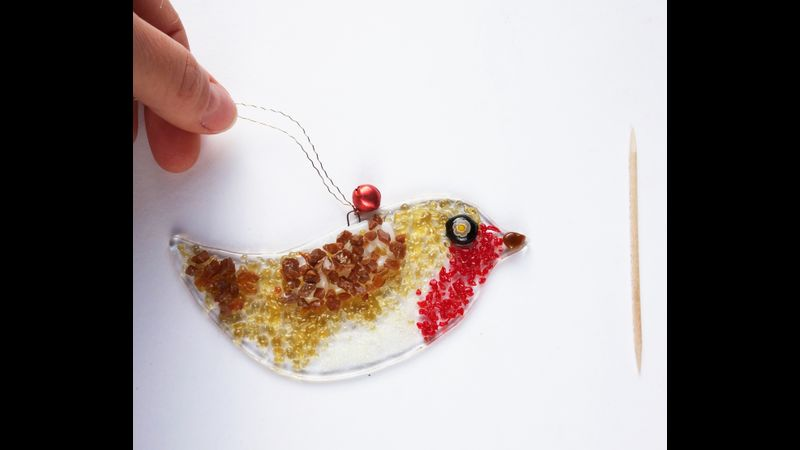medium fused glass robin duo kit to make at home