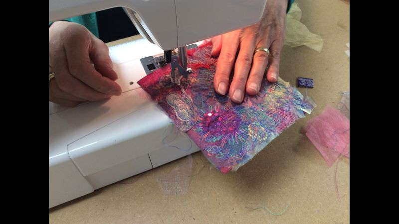 Free motion machine embroidery with Gill Collinson