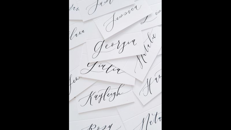 Calligraphy placecards
