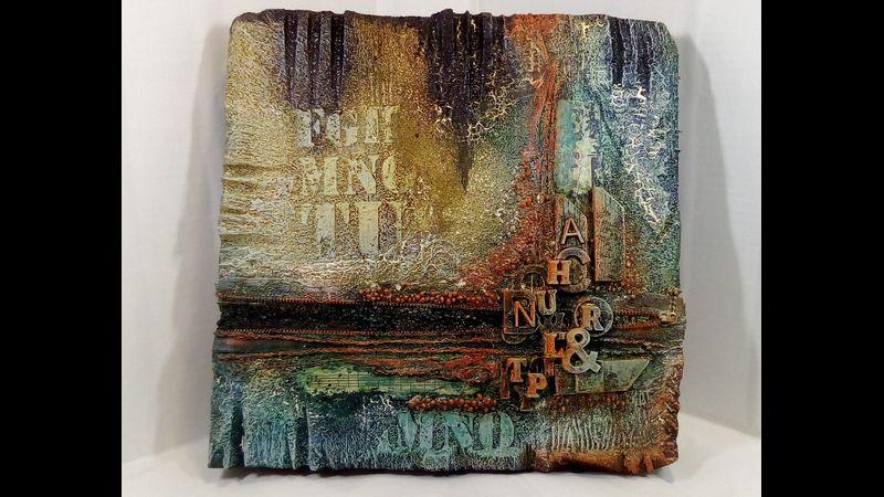 """""""Alphabet Soup"""" dense Foam textured picture"""