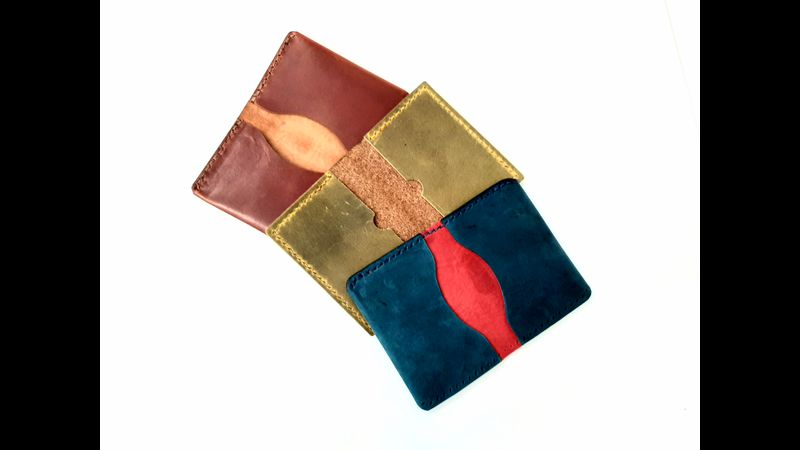 Cardholder in a variety of leather colours