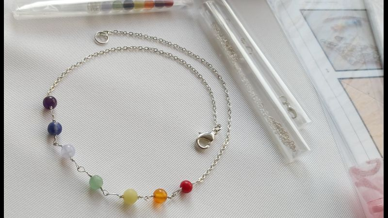 ♥  Completed Chakra Necklace from BCT Kit ♥