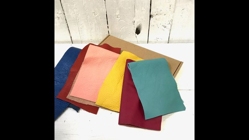 colourful leather offcuts