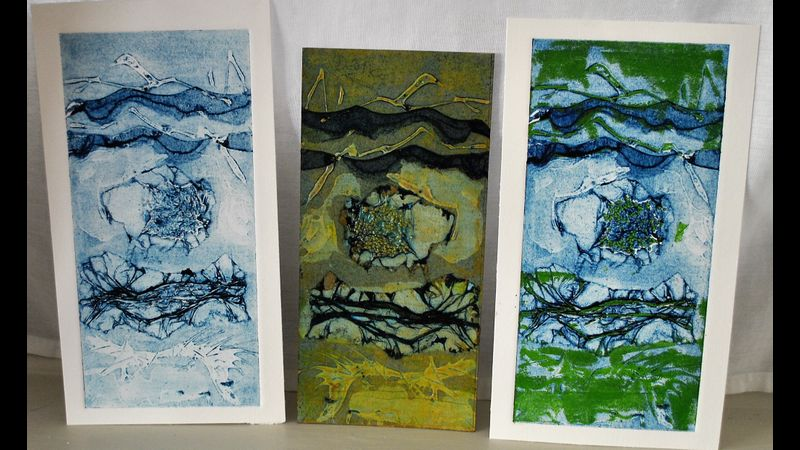 This is a demonstration collagraph plate I made in a previous (in-person) course.