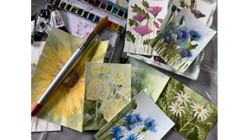 Paint a number of mini floral masterpieces on this workshop!