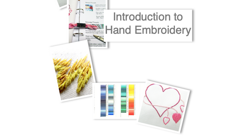 Comprehensive course covers everything you need to know to start hand embroidery