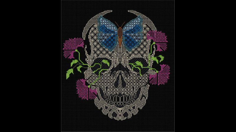 Blackwork Skull from DoodleCraft Design