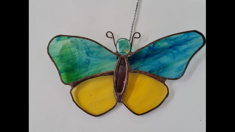 Copper foiled butterfly