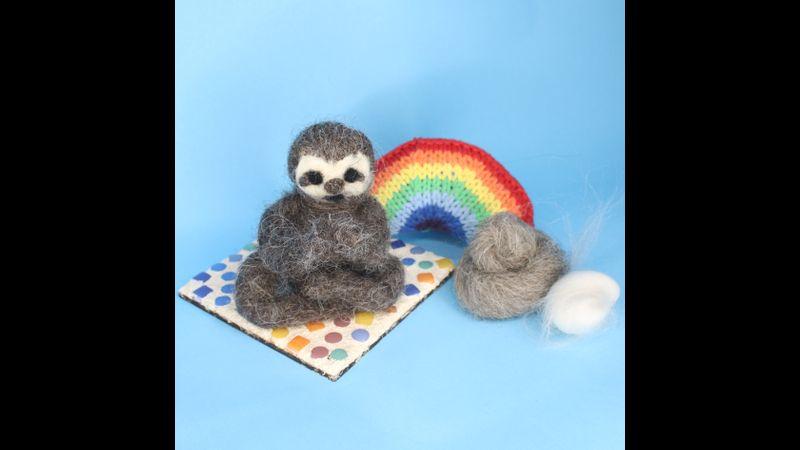 Sloth Needle Felting Kit