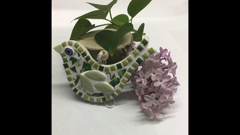 Mini mosaic China bird kit