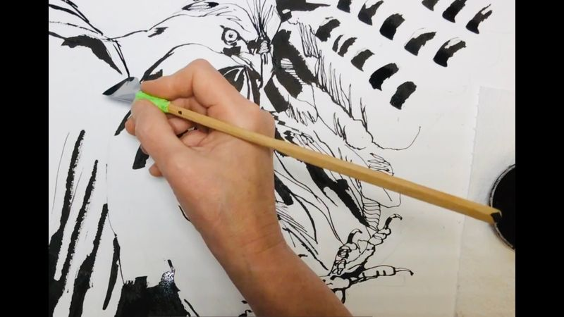 Cola pen in action