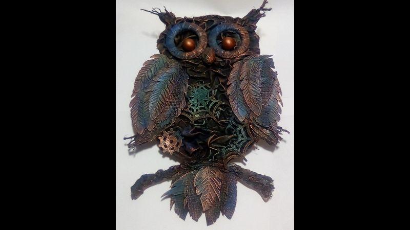 Wall Hung Owl Sculpture