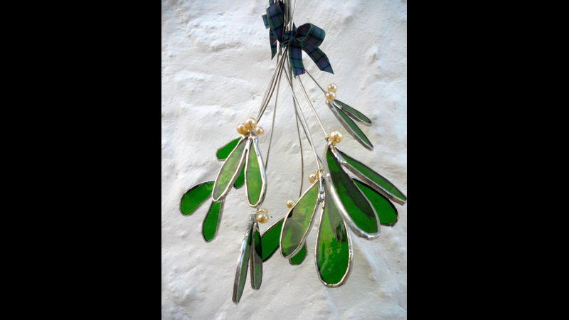 Stained Glass mistletoe