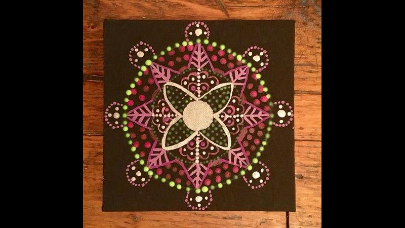 Mandala with black background