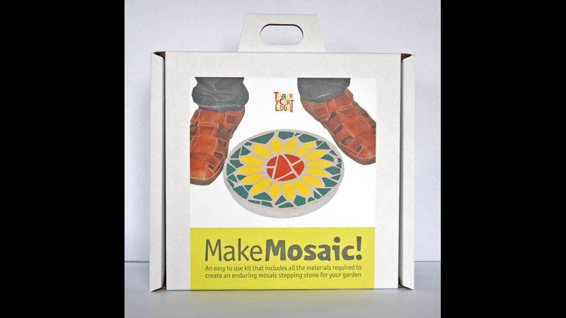 Sunflower, Mosaic Stepping Stone Kit