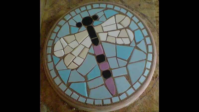 Dragonfly, Mosaic Stepping Stone Kit