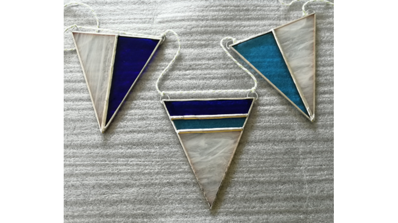 Stained Glass Copper Foil Bunting 2