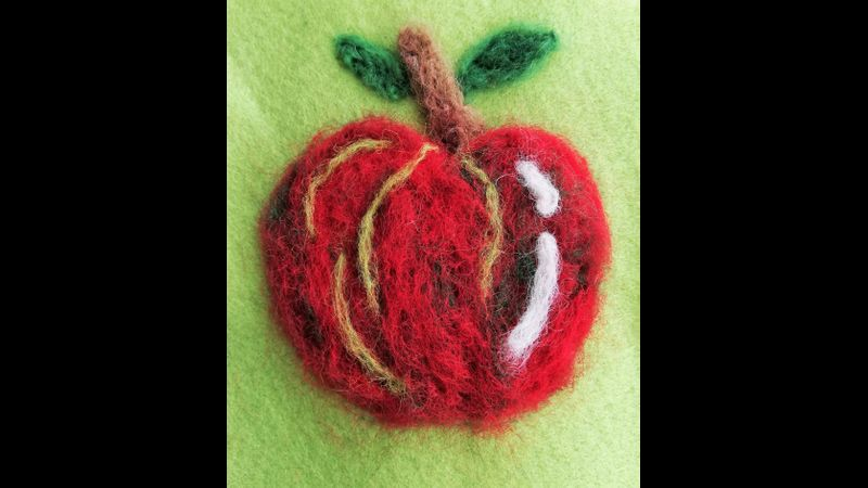 Felted apple