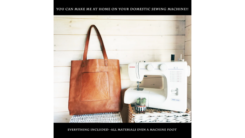 Make this Tote bag at home on your domestic sewing machine