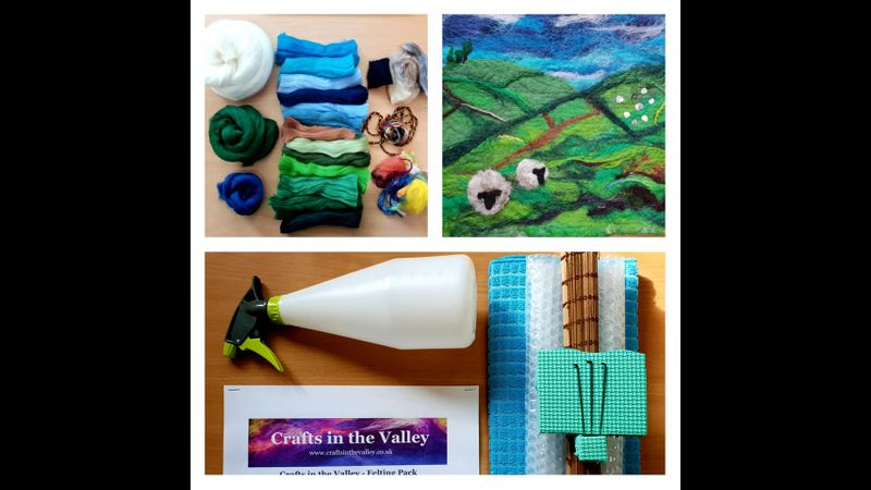 Full Felting Kit with invite to LIVE Online Zoom tutorial.