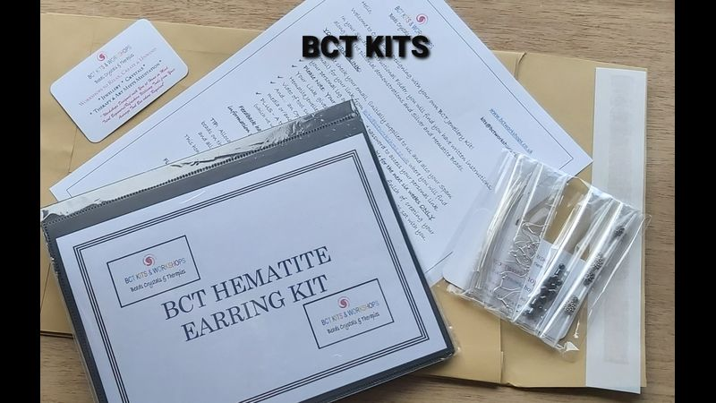 BCT Kit Folder, & Video Link, Silver Findings, Hematite, alternative suggestions which may be found in your tool box.