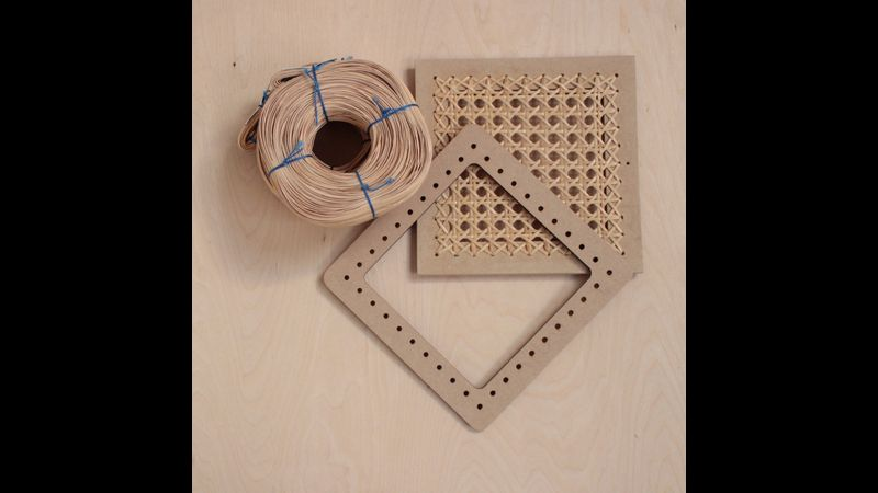 Cane weaving frames