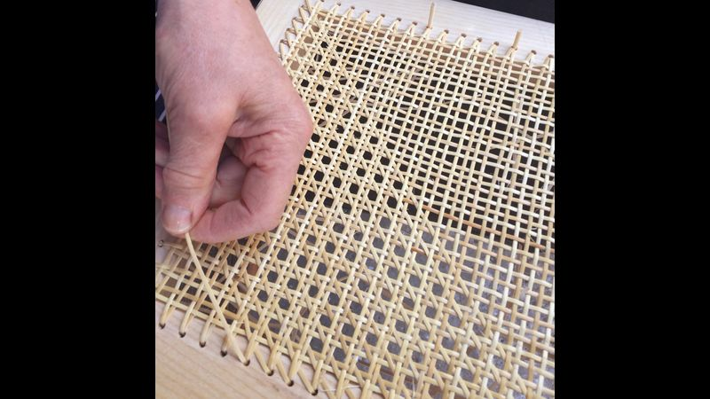 Traditional 6 strand rattan cane-weaving