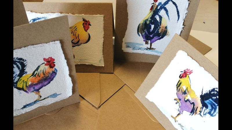 Lovely cards with matching brown envelopes