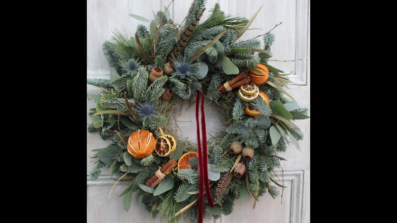 Traditional Spruce Door Wreath