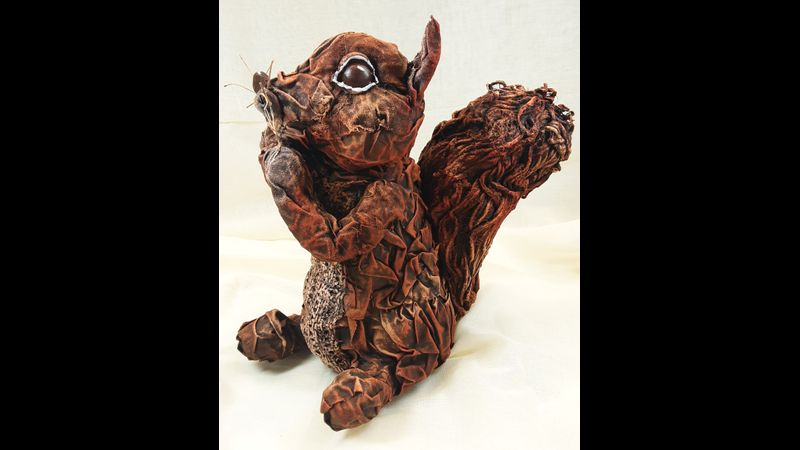 Cyril the Fabric Sculpted Squirrel