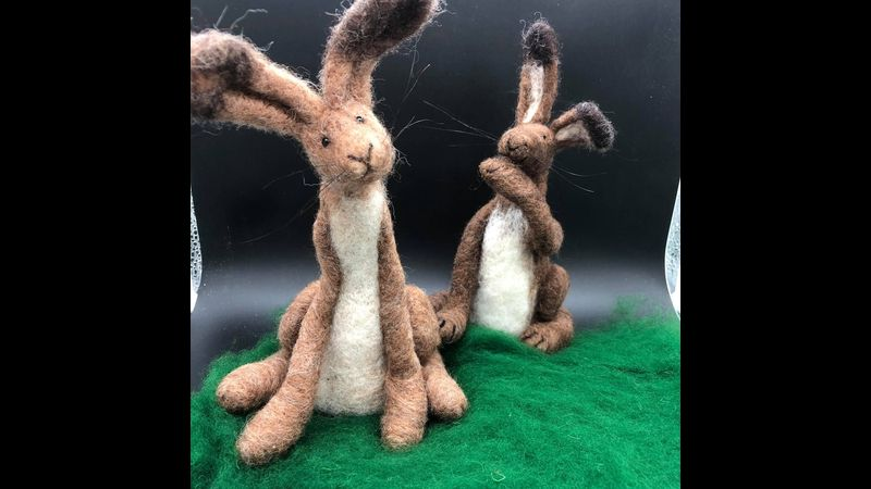 Needle Felted Hare Making Kit